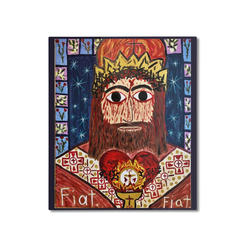 Jesus Christ the King, the Eternal High Priest Home Mounted Aluminum Print by Mary Kloska Fiat's Artist Shop