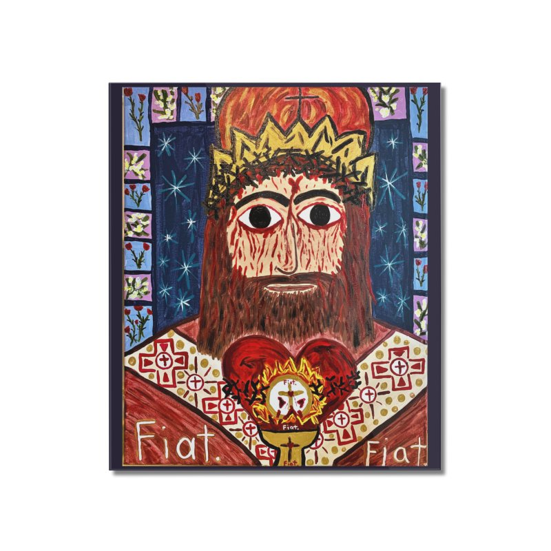 Jesus Christ the King, the Eternal High Priest Home Mounted Acrylic Print by Mary Kloska Fiat's Artist Shop
