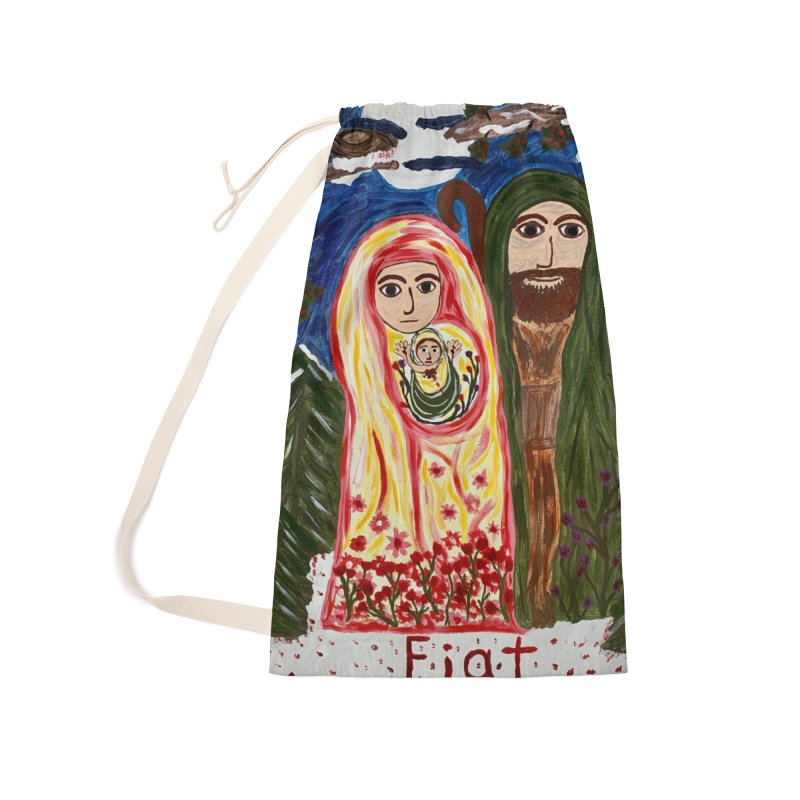 Holy Family in Siberian Forest Accessories Bag by Mary Kloska Fiat's Artist Shop