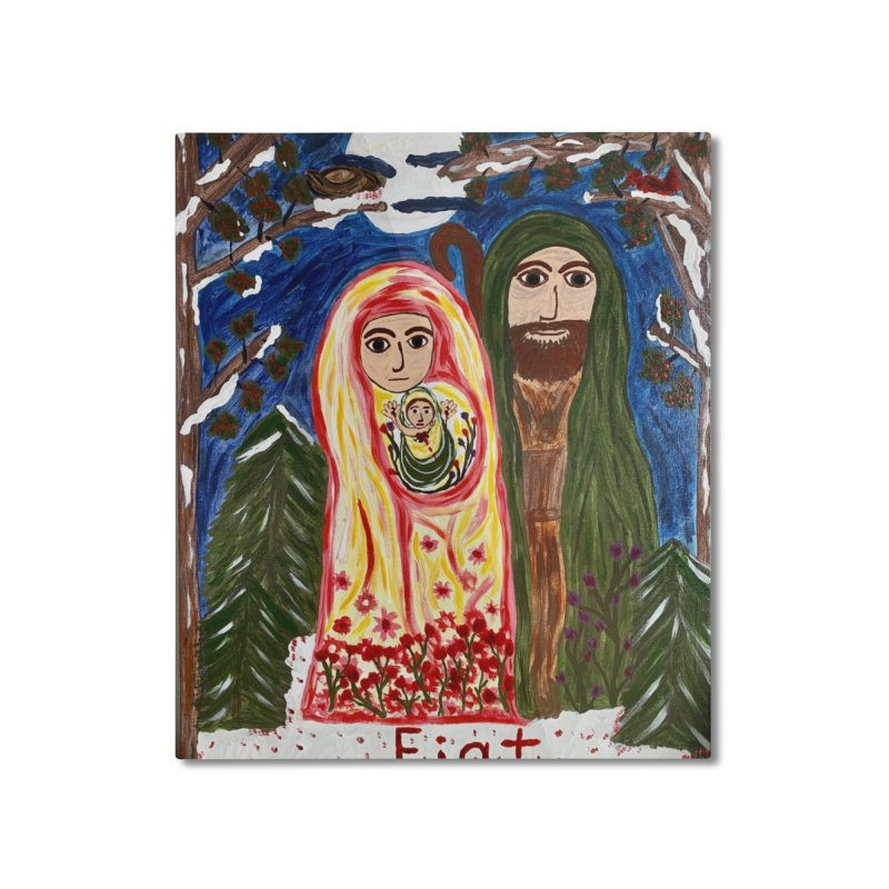 Holy Family in Siberian Forest Home Mounted Aluminum Print by Mary Kloska Fiat's Artist Shop