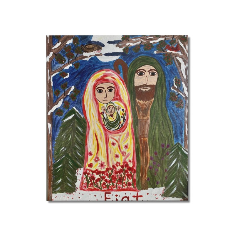 Holy Family in Siberian Forest Home Mounted Acrylic Print by Mary Kloska Fiat's Artist Shop