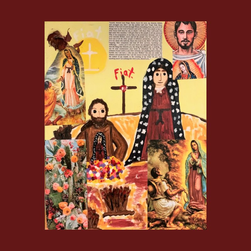 Juan Diego and Our Lady of Guadalupe Home Fine Art Print by Mary Kloska Fiat's Artist Shop