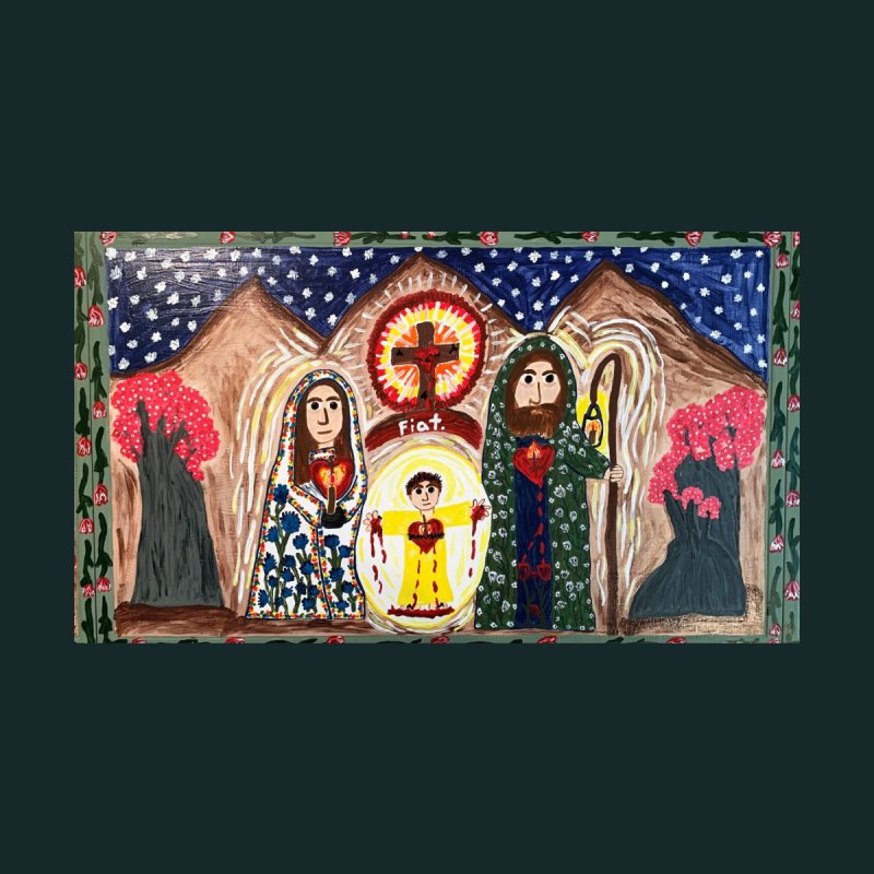 Holy Family Table Top Home Fine Art Print by Mary Kloska Fiat's Artist Shop