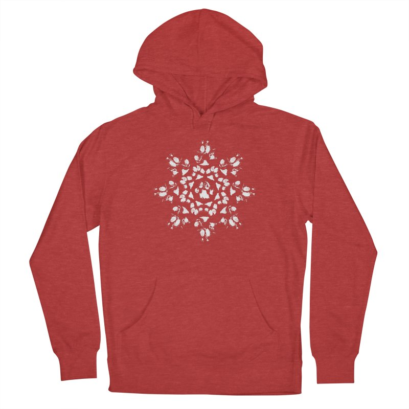 Happy Pawlidays! Men's French Terry Pullover Hoody by Maryland SPCA's Artist Shop