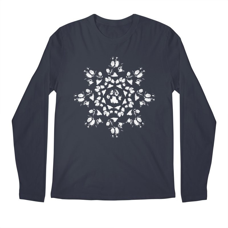 Happy Pawlidays! Men's Regular Longsleeve T-Shirt by Maryland SPCA's Artist Shop