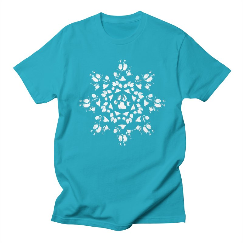Happy Pawlidays! Men's Regular T-Shirt by Maryland SPCA's Artist Shop