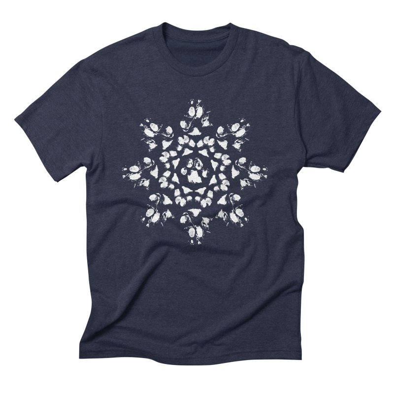 Happy Pawlidays! Men's Triblend T-Shirt by Maryland SPCA's Artist Shop