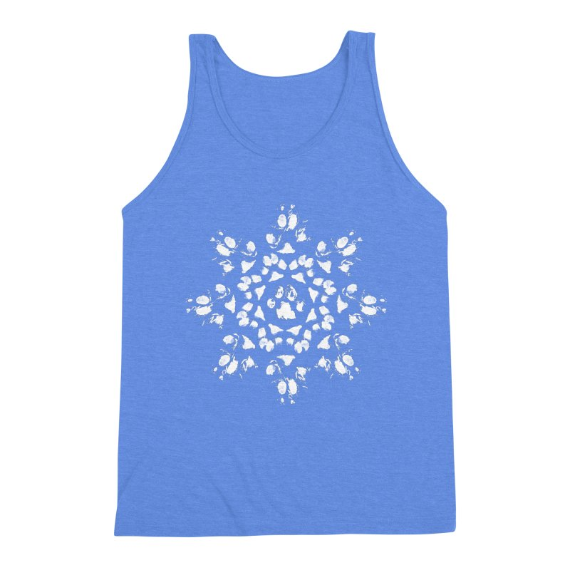 Happy Pawlidays! Men's Triblend Tank by Maryland SPCA's Artist Shop