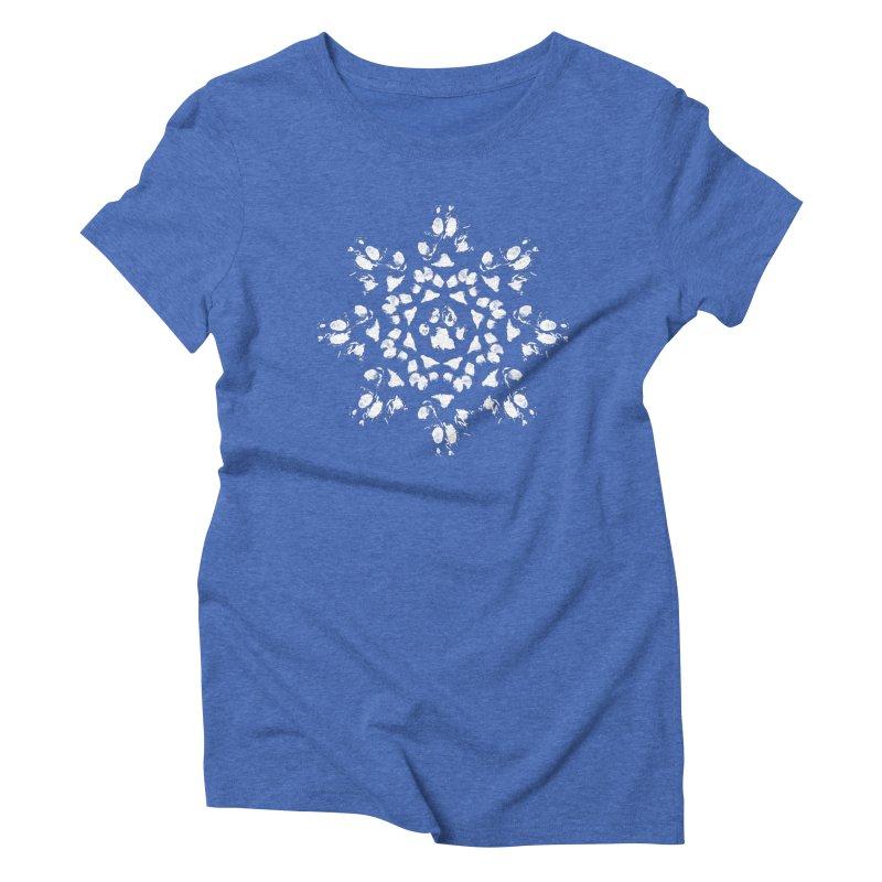 Happy Pawlidays! Women's Triblend T-Shirt by Maryland SPCA's Artist Shop