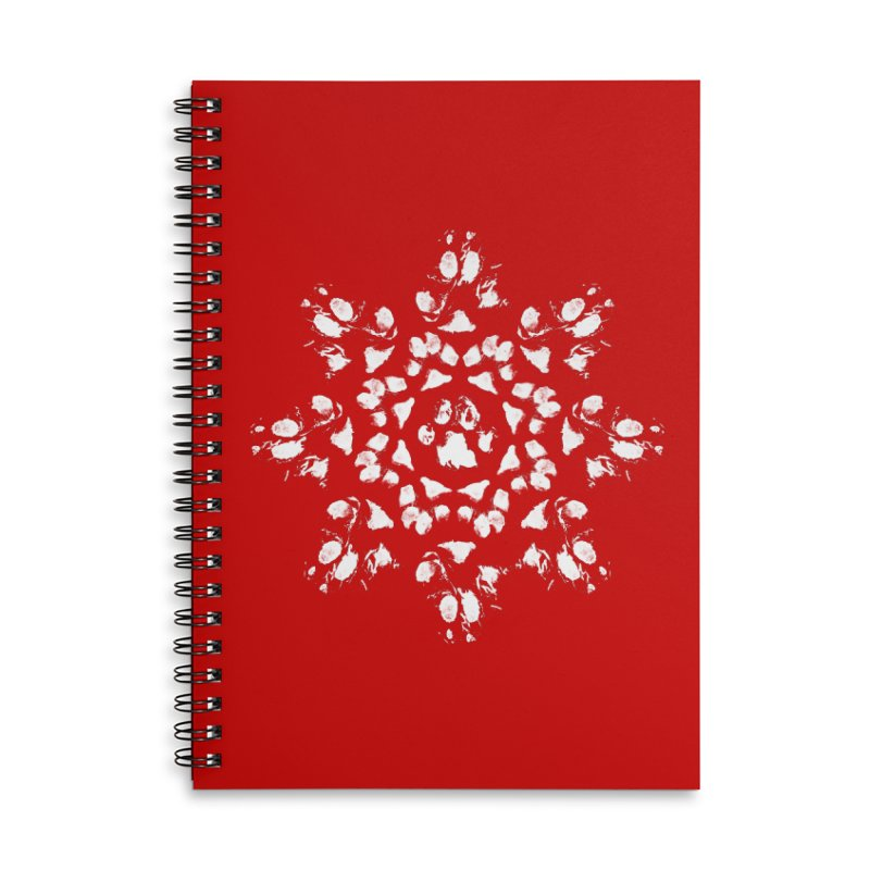 Happy Pawlidays! Accessories Lined Spiral Notebook by Maryland SPCA's Artist Shop