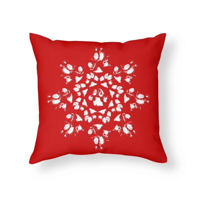 Happy Pawlidays! Home Throw Pillow by Maryland SPCA's Artist Shop