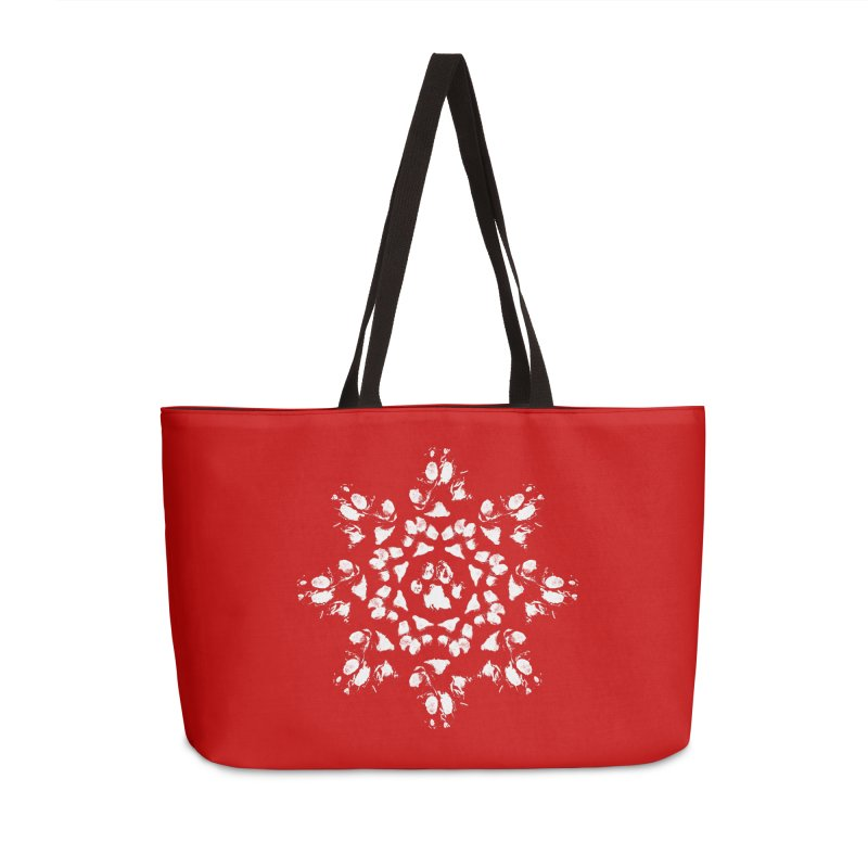 Happy Pawlidays! Accessories Weekender Bag Bag by Maryland SPCA's Artist Shop