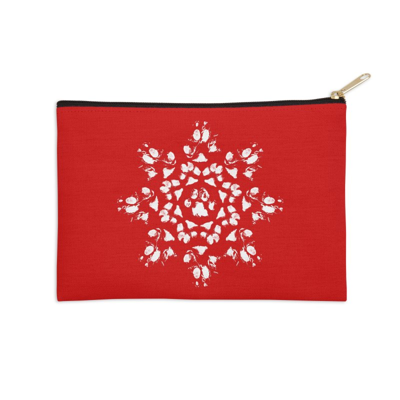 Happy Pawlidays! Accessories Zip Pouch by Maryland SPCA's Artist Shop