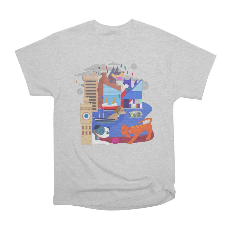 Pawtimore by Richard Kercz Men's T-Shirt by Maryland SPCA's Artist Shop