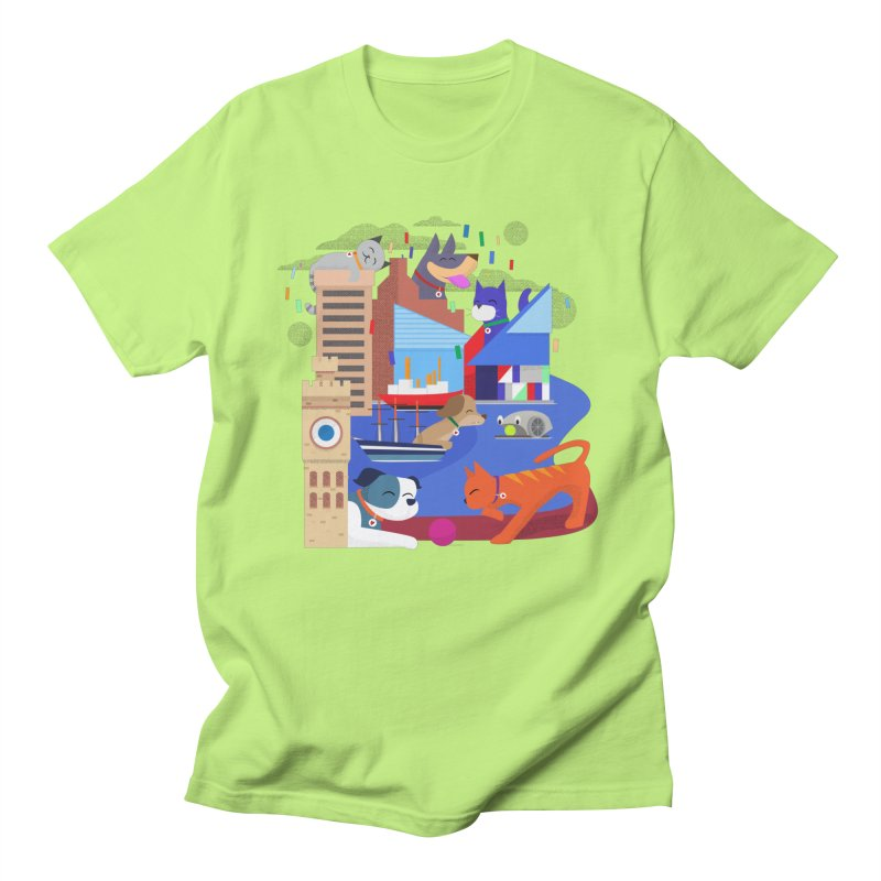 Pawtimore by Richard Kercz Men's T-Shirt by Maryland SPCA's Artist Shop