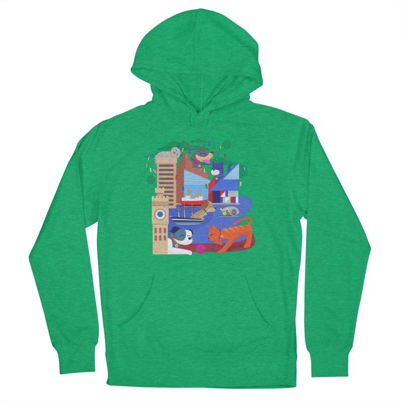 Pawtimore by Richard Kercz Women's French Terry Pullover Hoody by Maryland SPCA's Artist Shop