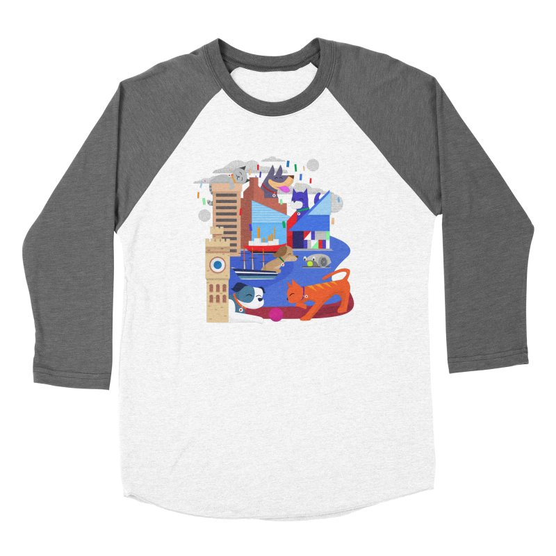 Pawtimore by Richard Kercz Women's Longsleeve T-Shirt by Maryland SPCA's Artist Shop