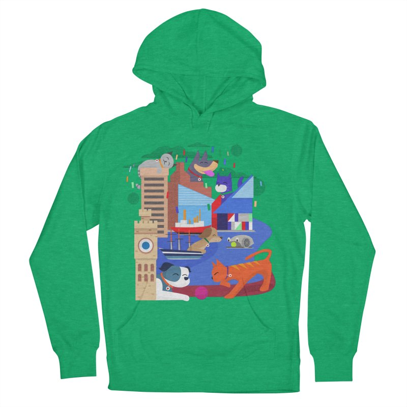 Pawtimore by Richard Kercz Men's French Terry Pullover Hoody by Maryland SPCA's Artist Shop