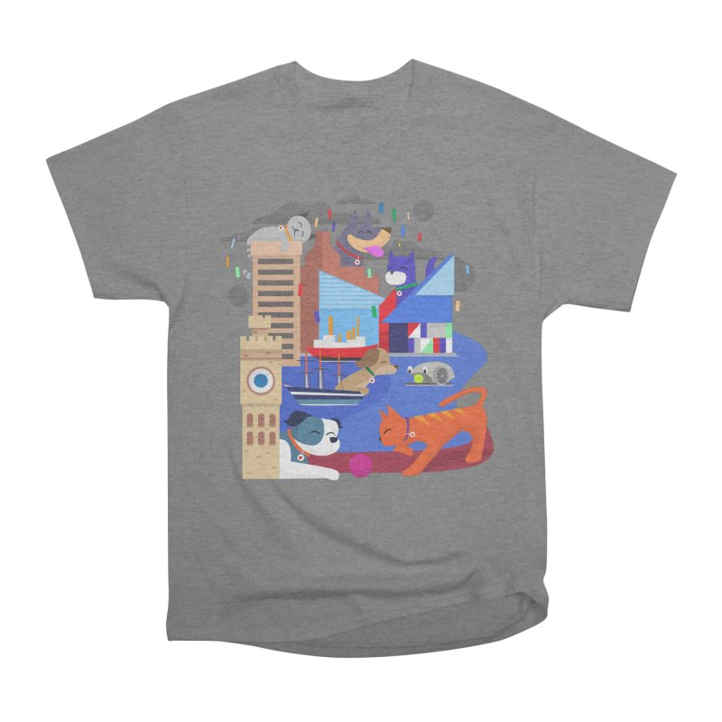 Pawtimore by Richard Kercz Men's Heavyweight T-Shirt by Maryland SPCA's Artist Shop