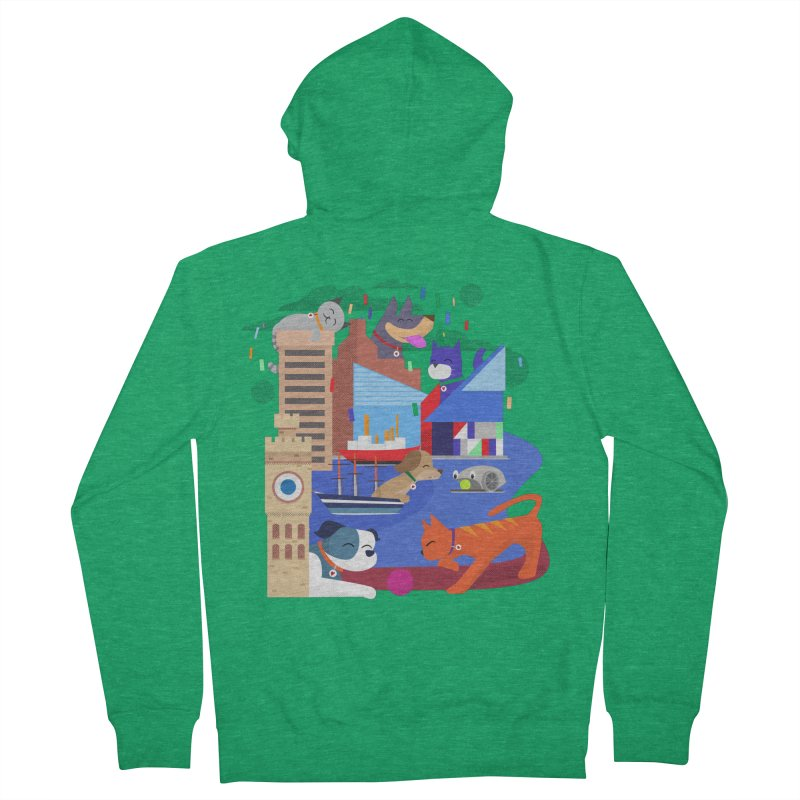Pawtimore by Richard Kercz Men's French Terry Zip-Up Hoody by Maryland SPCA's Artist Shop