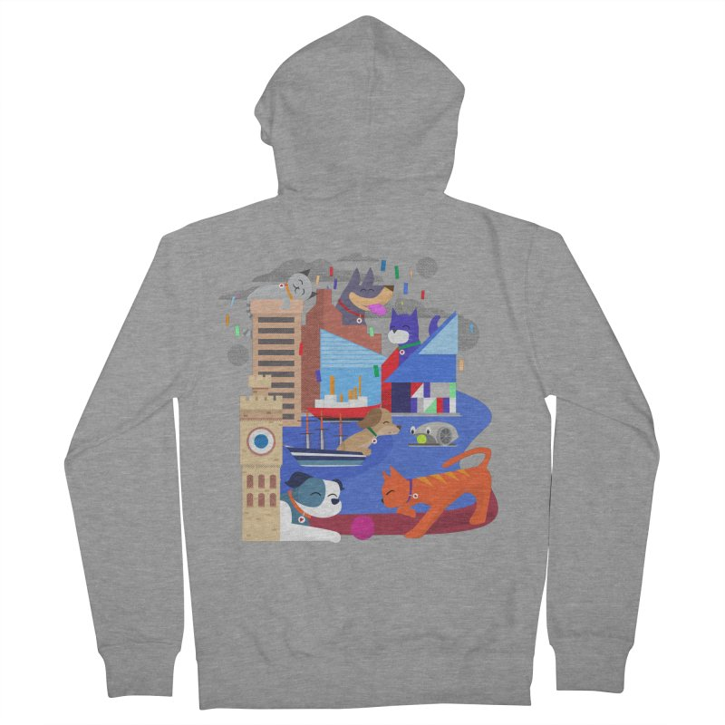 Pawtimore by Richard Kercz Men's French Terry Zip-Up Hoody by marylandspca's Artist Shop
