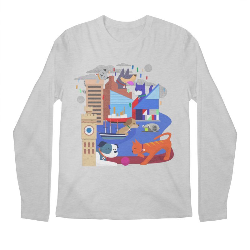 Pawtimore by Richard Kercz Men's Regular Longsleeve T-Shirt by Maryland SPCA's Artist Shop