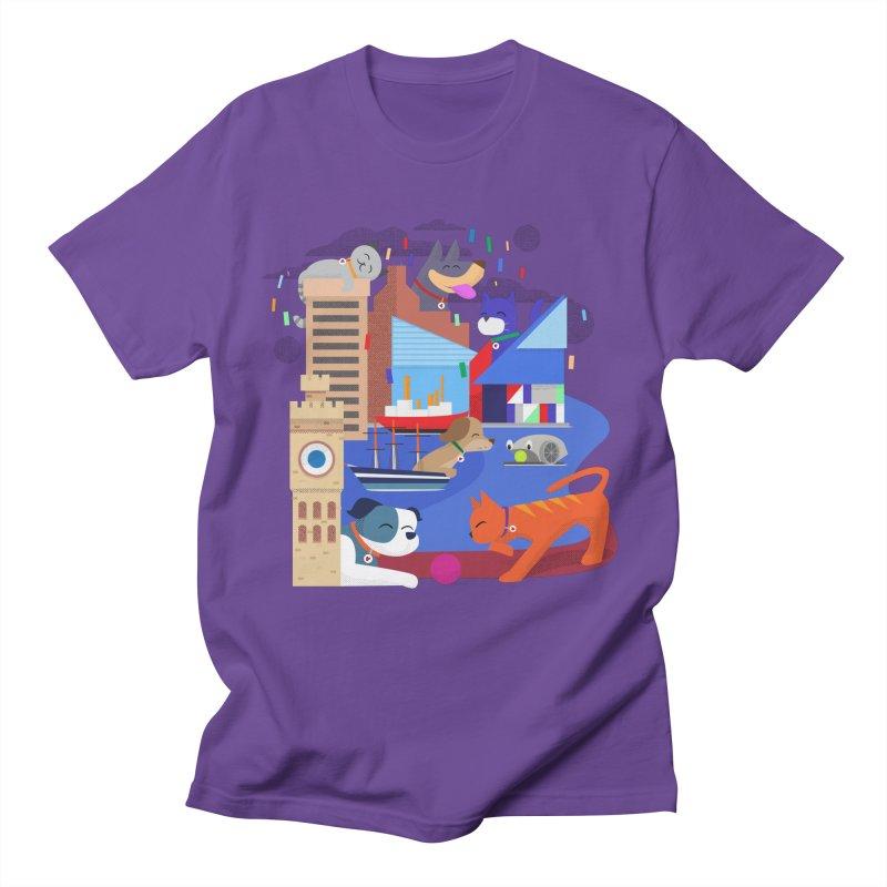 Pawtimore by Richard Kercz Men's Regular T-Shirt by Maryland SPCA's Artist Shop