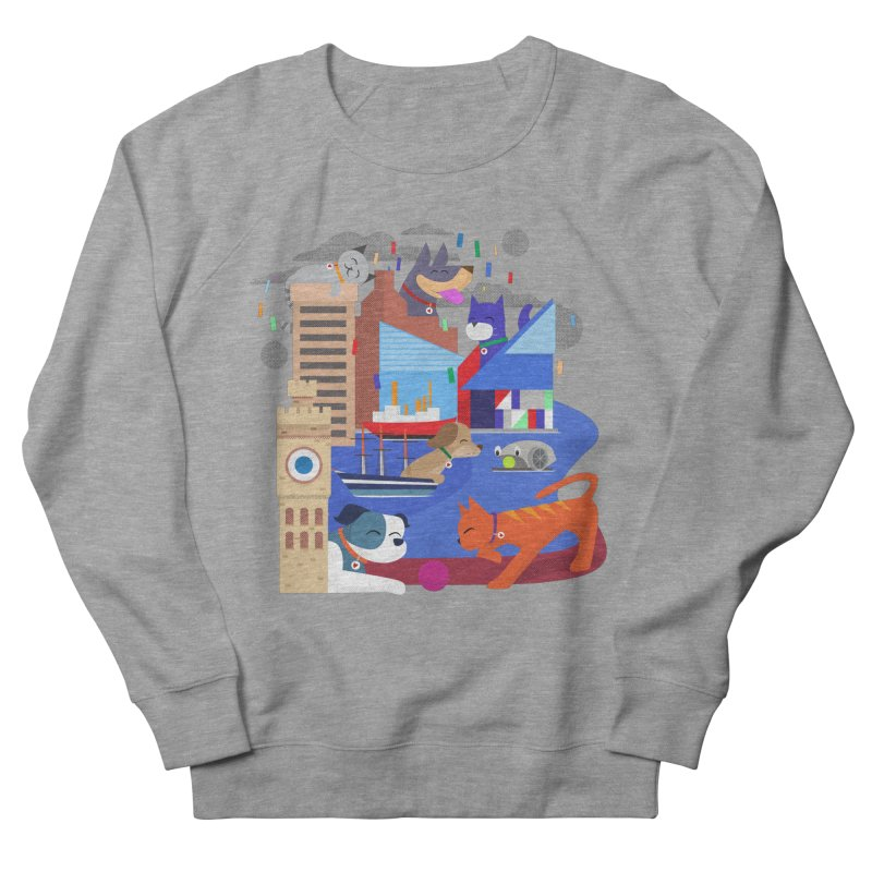 Pawtimore by Richard Kercz Women's French Terry Sweatshirt by Maryland SPCA's Artist Shop