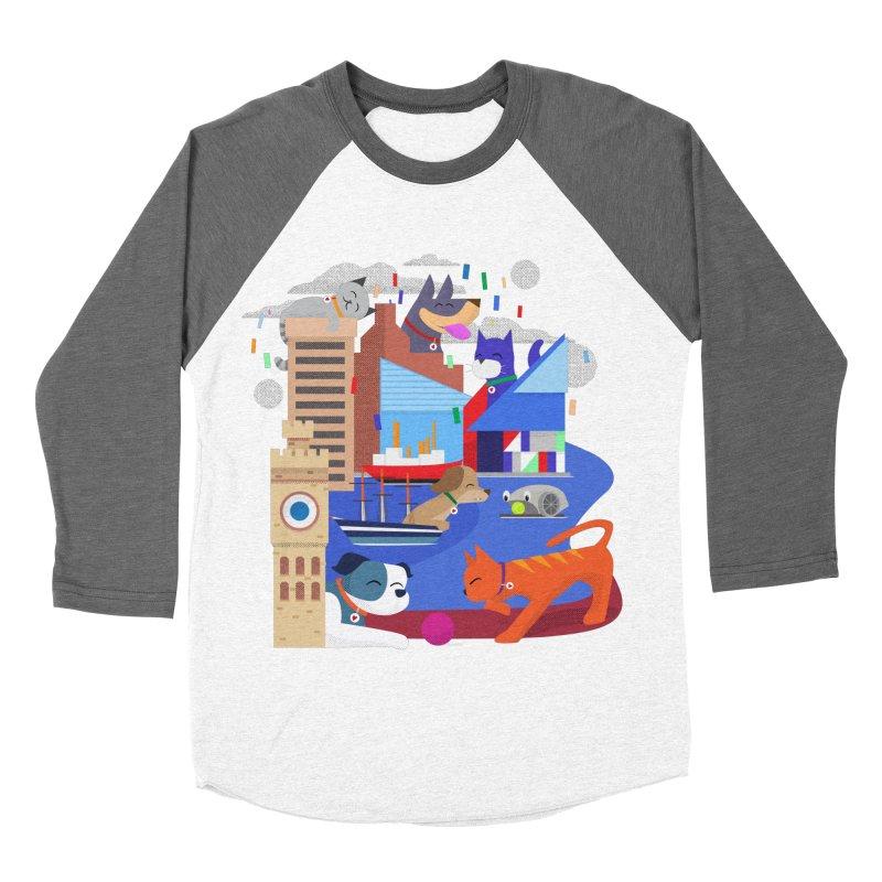 Pawtimore by Richard Kercz Men's Baseball Triblend Longsleeve T-Shirt by marylandspca's Artist Shop