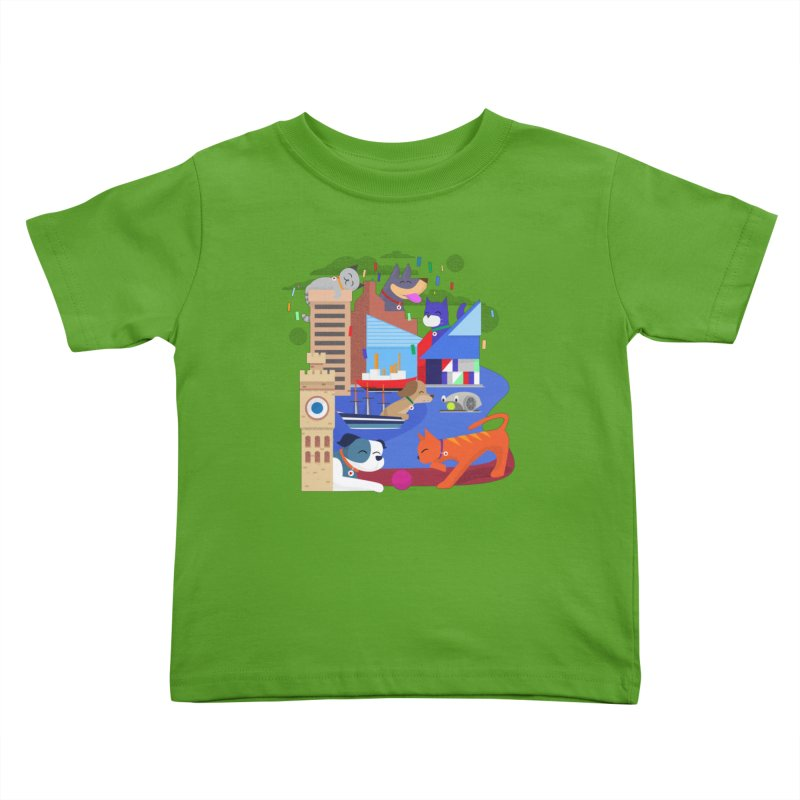 Pawtimore by Richard Kercz Kids Toddler T-Shirt by Maryland SPCA's Artist Shop