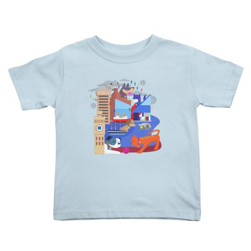 Pawtimore by Richard Kercz Kids Toddler T-Shirt by Maryland SPCA's Artist Shop
