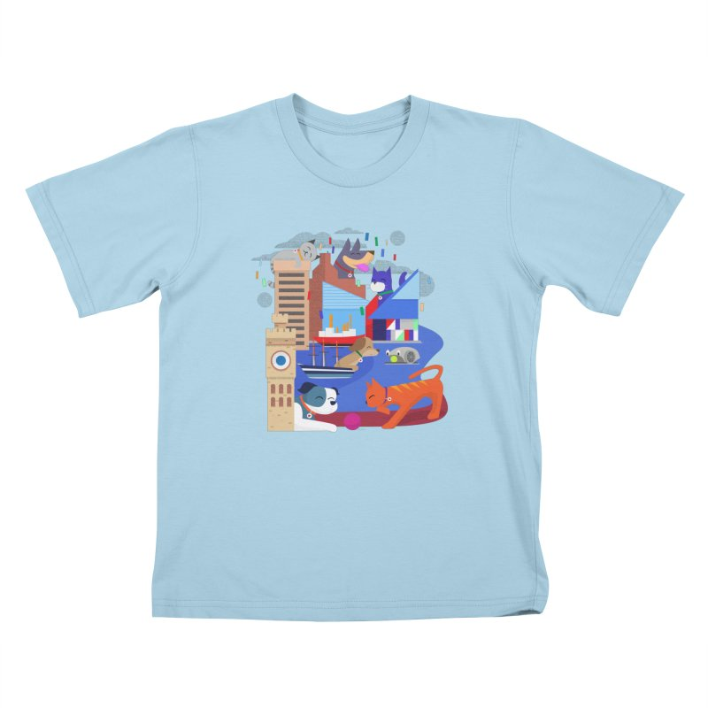 Pawtimore by Richard Kercz Kids T-Shirt by Maryland SPCA's Artist Shop