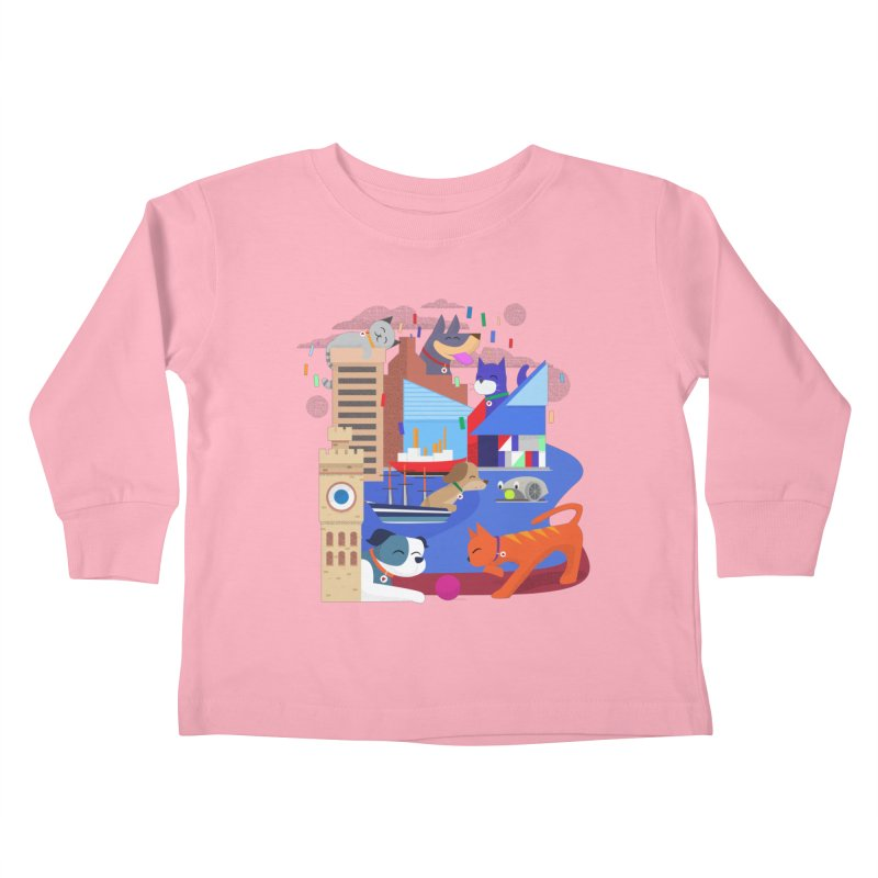 Pawtimore by Richard Kercz Kids Toddler Longsleeve T-Shirt by Maryland SPCA's Artist Shop