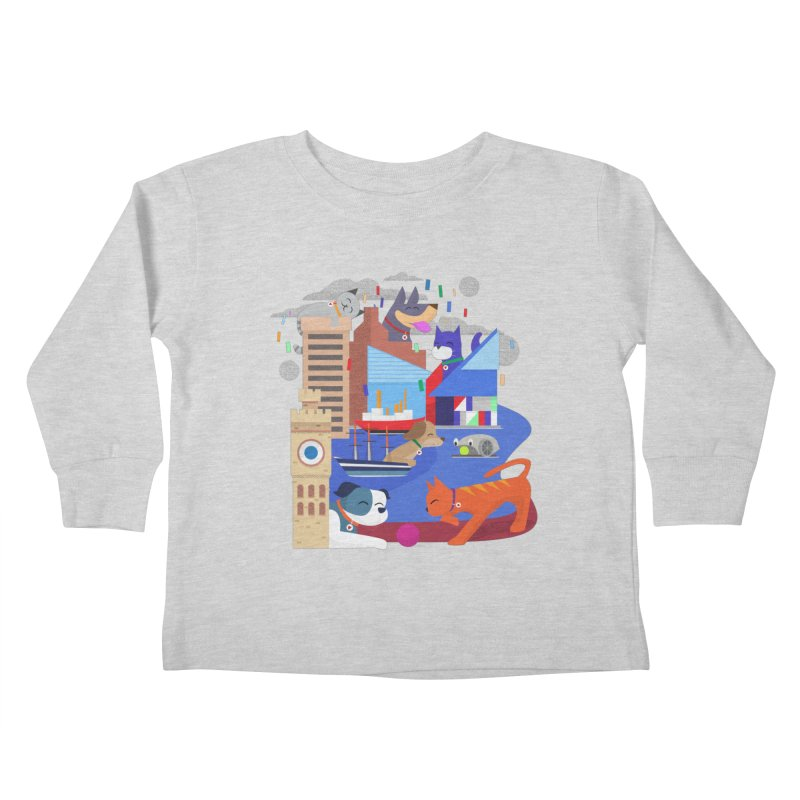 Pawtimore by Richard Kercz Kids Toddler Longsleeve T-Shirt by marylandspca's Artist Shop