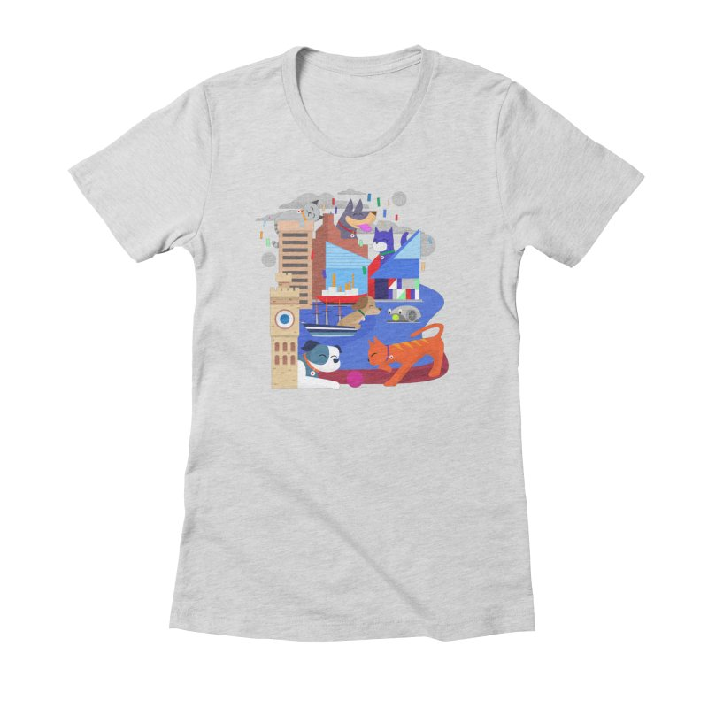 Pawtimore by Richard Kercz Women's T-Shirt by Maryland SPCA's Artist Shop