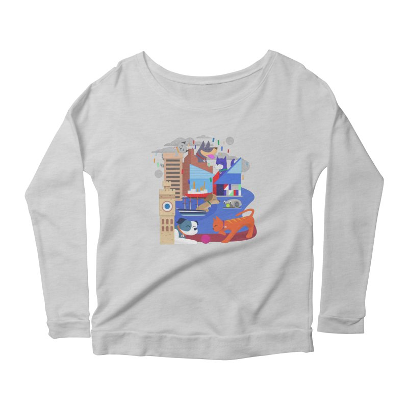 Pawtimore by Richard Kercz Women's Scoop Neck Longsleeve T-Shirt by Maryland SPCA's Artist Shop