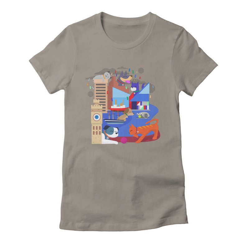 Pawtimore by Richard Kercz Women's Fitted T-Shirt by Maryland SPCA's Artist Shop
