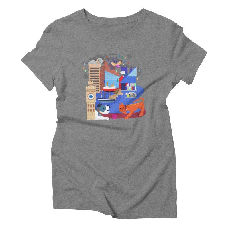 Pawtimore by Richard Kercz Women's Triblend T-Shirt by Maryland SPCA's Artist Shop