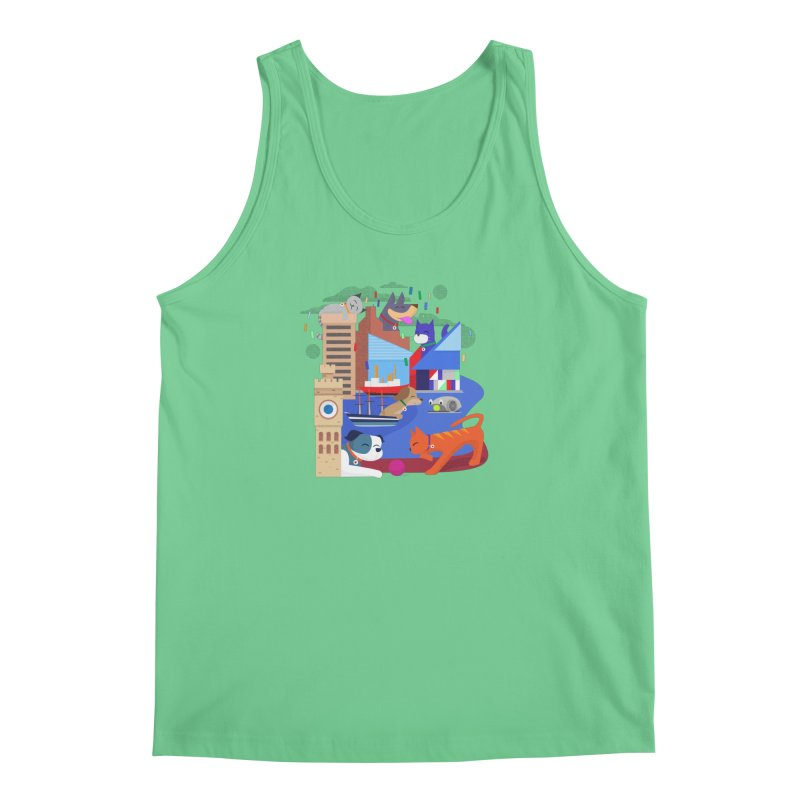 Pawtimore by Richard Kercz Men's Tank by Maryland SPCA's Artist Shop
