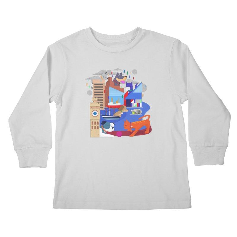 Pawtimore by Richard Kercz Kids Longsleeve T-Shirt by Maryland SPCA's Artist Shop