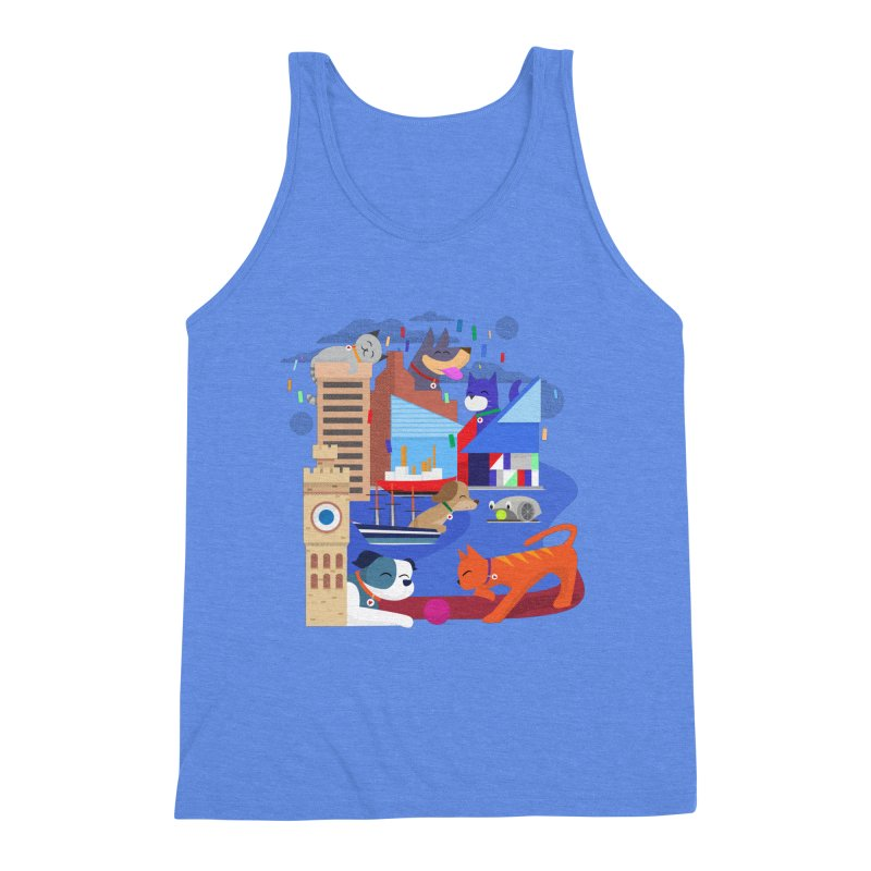 Pawtimore by Richard Kercz Men's Triblend Tank by Maryland SPCA's Artist Shop