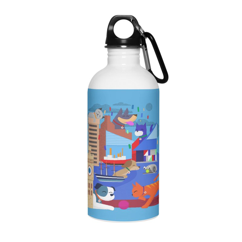Pawtimore by Richard Kercz Accessories Water Bottle by Maryland SPCA's Artist Shop