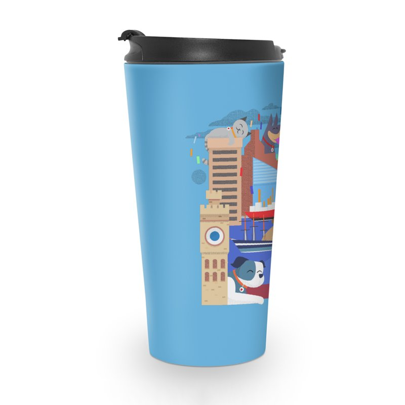 Pawtimore by Richard Kercz in Travel Mug by marylandspca's Artist Shop