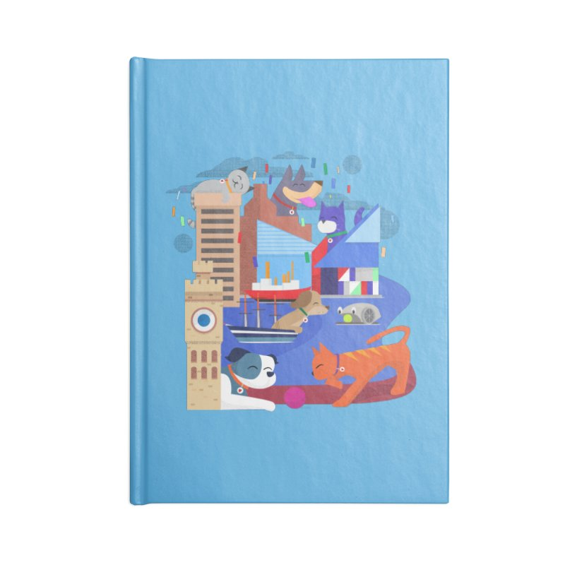 Pawtimore by Richard Kercz Accessories Lined Journal Notebook by Maryland SPCA's Artist Shop