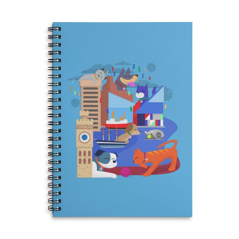 Pawtimore by Richard Kercz Accessories Notebook by Maryland SPCA's Artist Shop