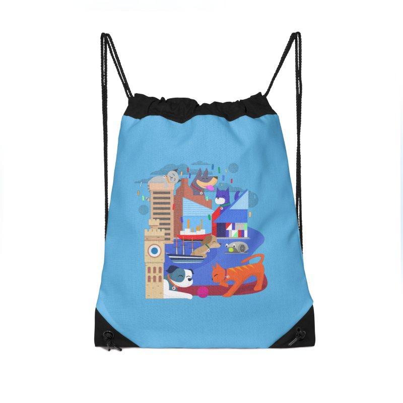 Pawtimore by Richard Kercz Accessories Drawstring Bag Bag by Maryland SPCA's Artist Shop