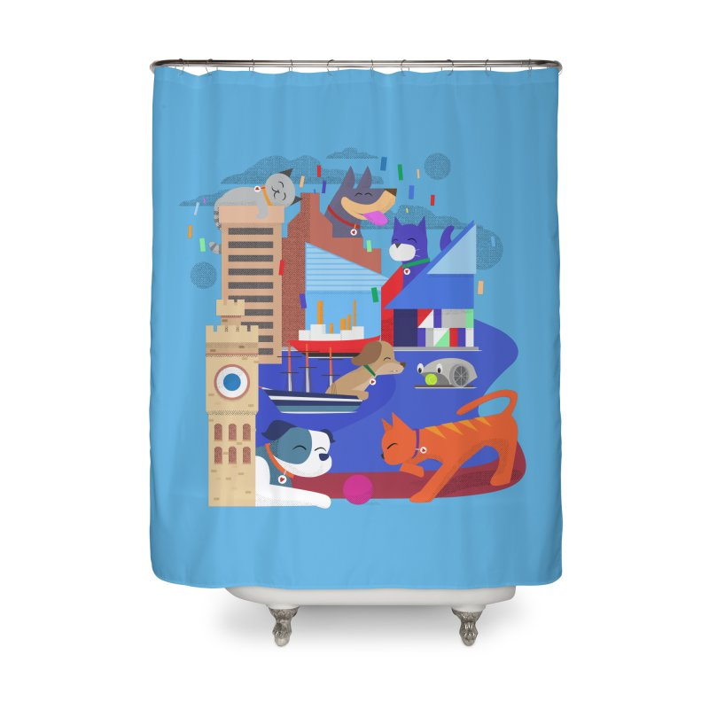 Pawtimore by Richard Kercz Home Shower Curtain by Maryland SPCA's Artist Shop