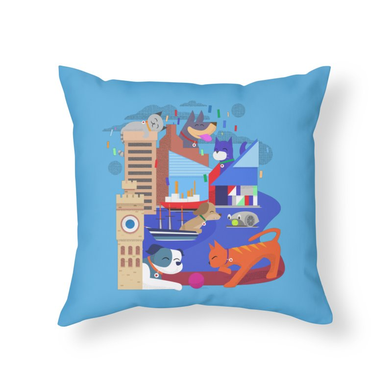 Pawtimore by Richard Kercz Home Throw Pillow by Maryland SPCA's Artist Shop