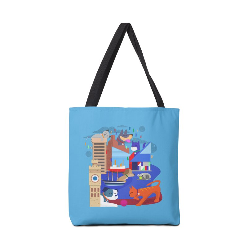 Pawtimore by Richard Kercz Accessories Tote Bag Bag by Maryland SPCA's Artist Shop