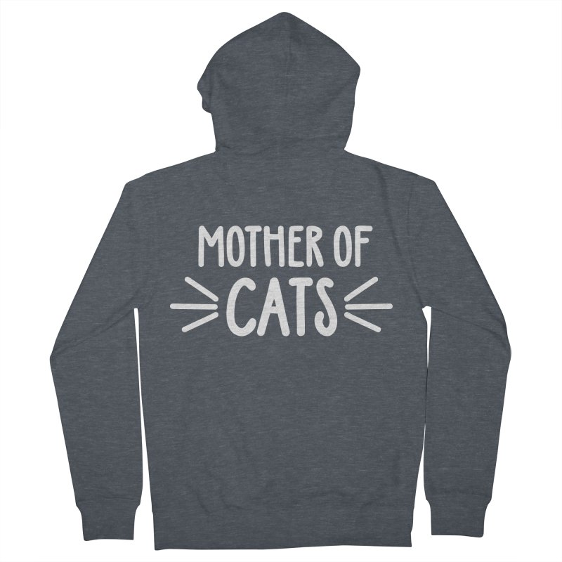 Mother of Cats Men's French Terry Zip-Up Hoody by marylandspca's Artist Shop